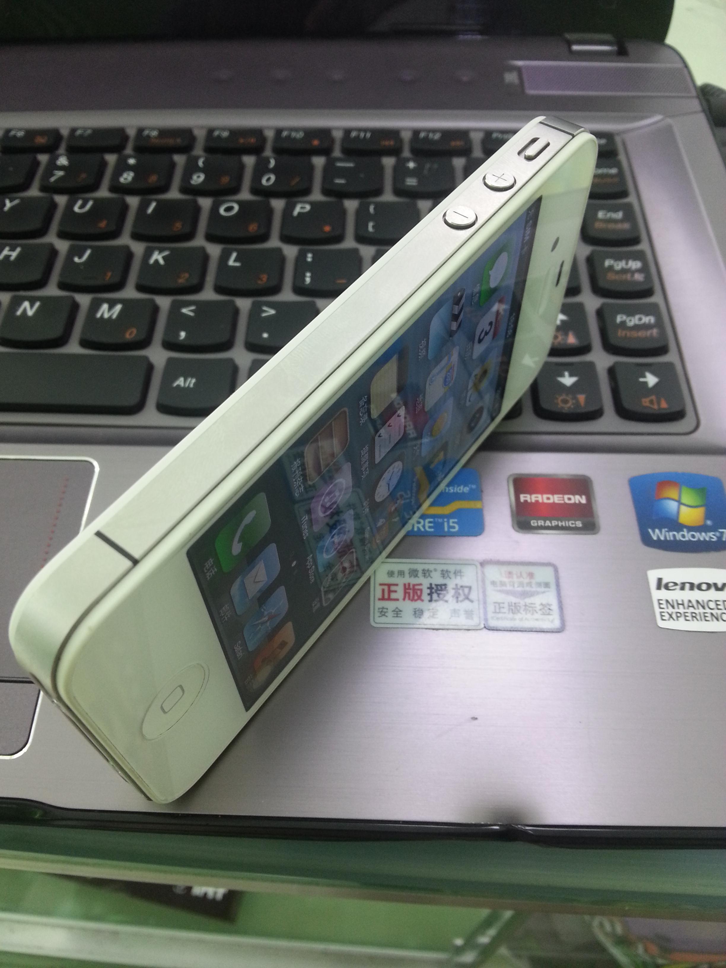 刚收2手苹果4s白色 手机平板图片
