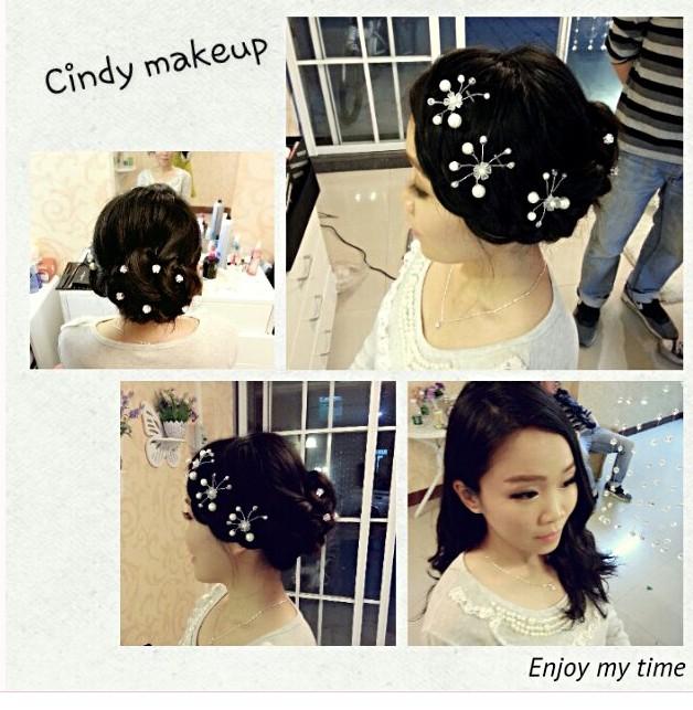韩式唯美新娘设计造型 化妆师cindy 婚嫁 庆典 鲜花 影视